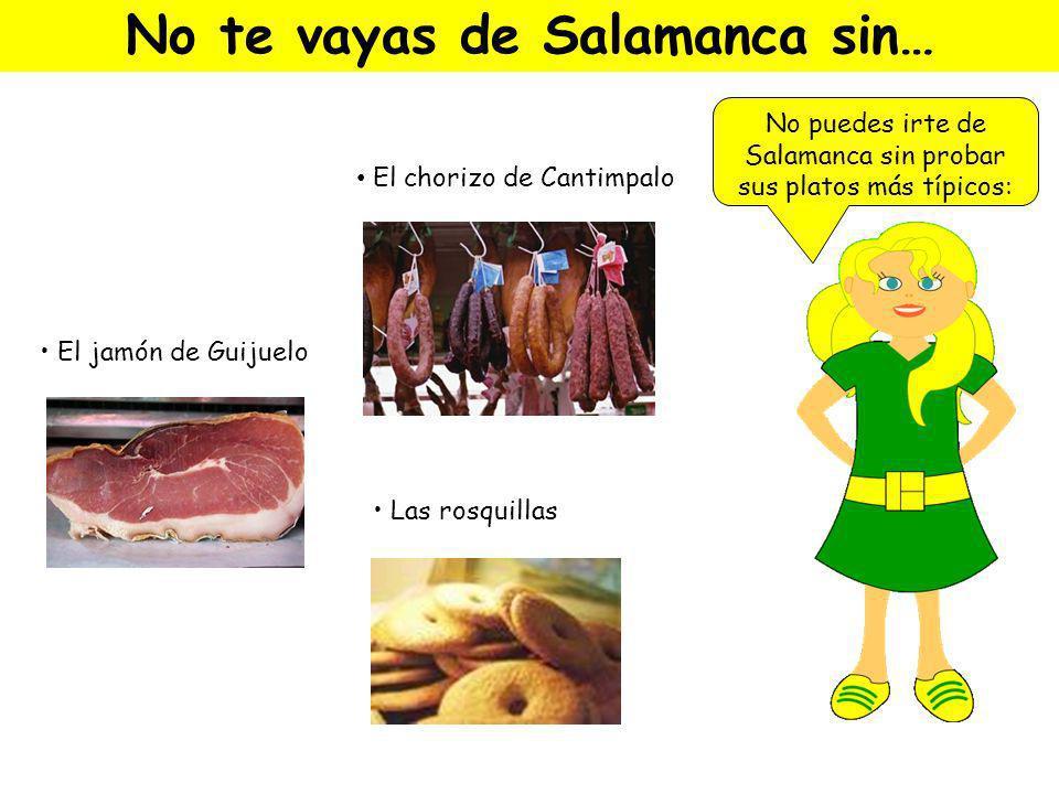 No te vayas de Salamanca sin…