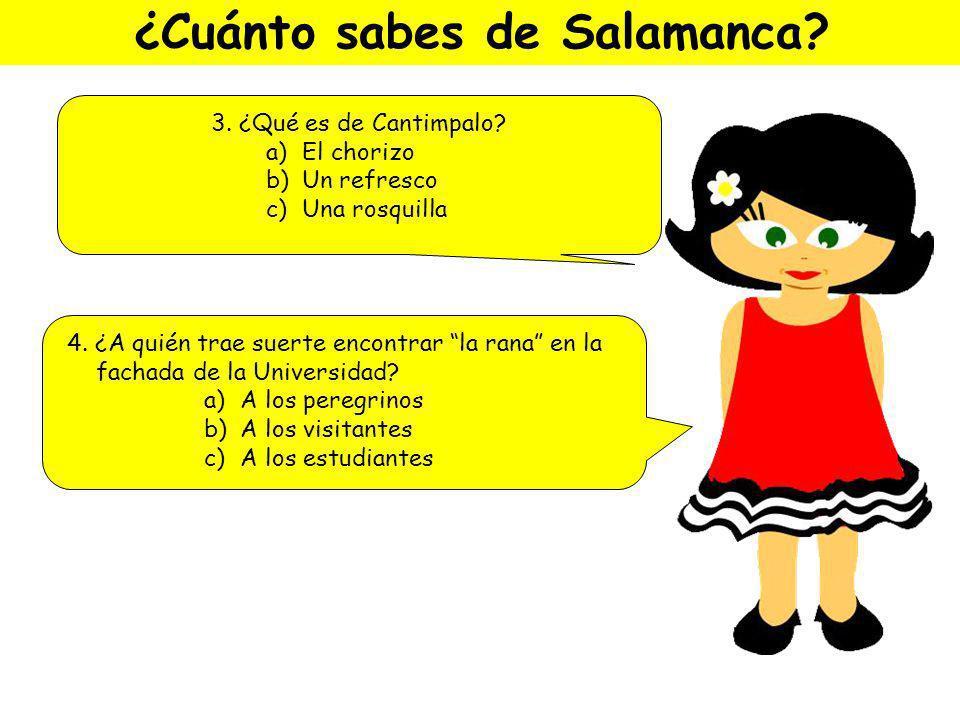 ¿Cuánto sabes de Salamanca