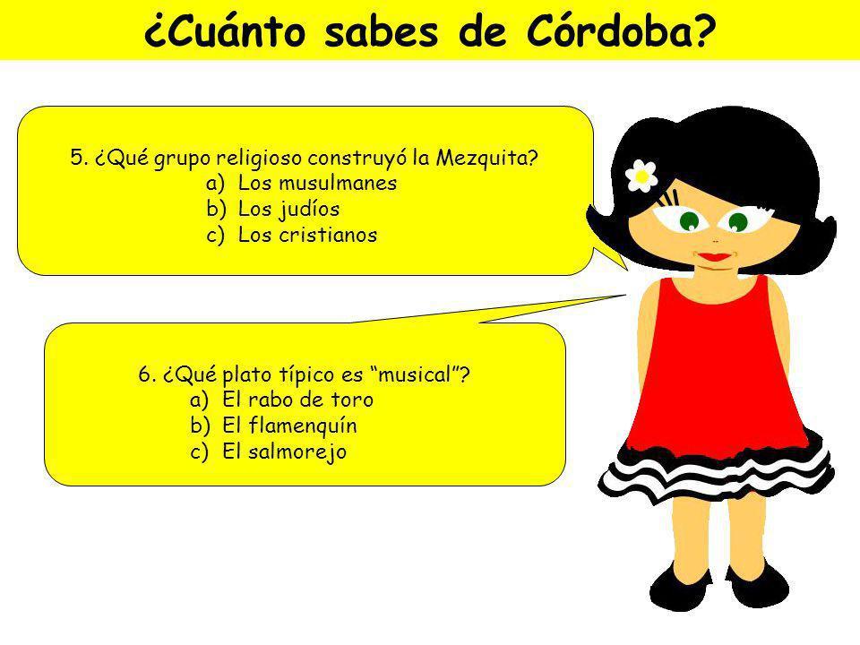 ¿Cuánto sabes de Córdoba