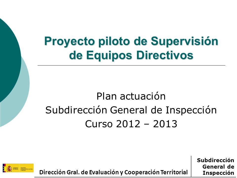 Proyecto piloto de Supervisión de Equipos Directivos