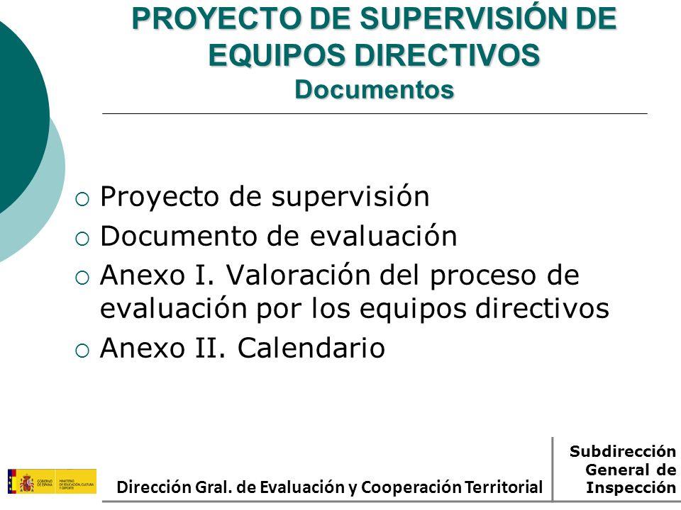 PROYECTO DE SUPERVISIÓN DE EQUIPOS DIRECTIVOS Documentos