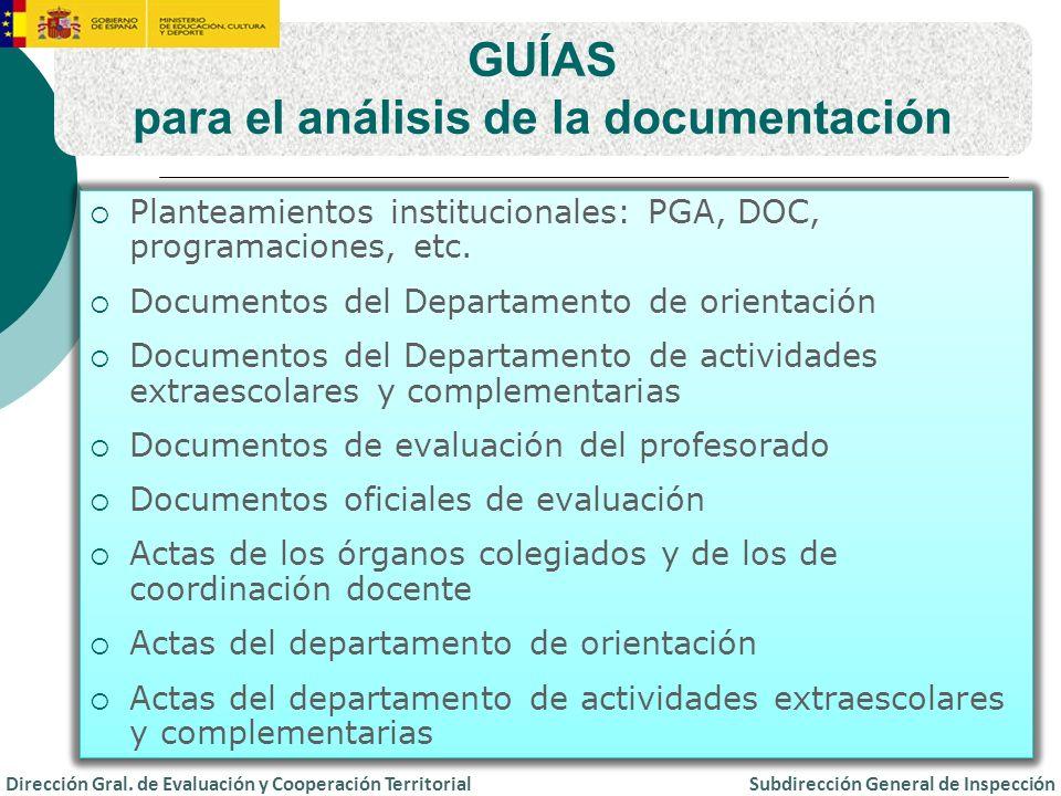 para el análisis de la documentación