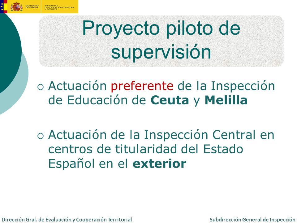 Proyecto piloto de supervisión