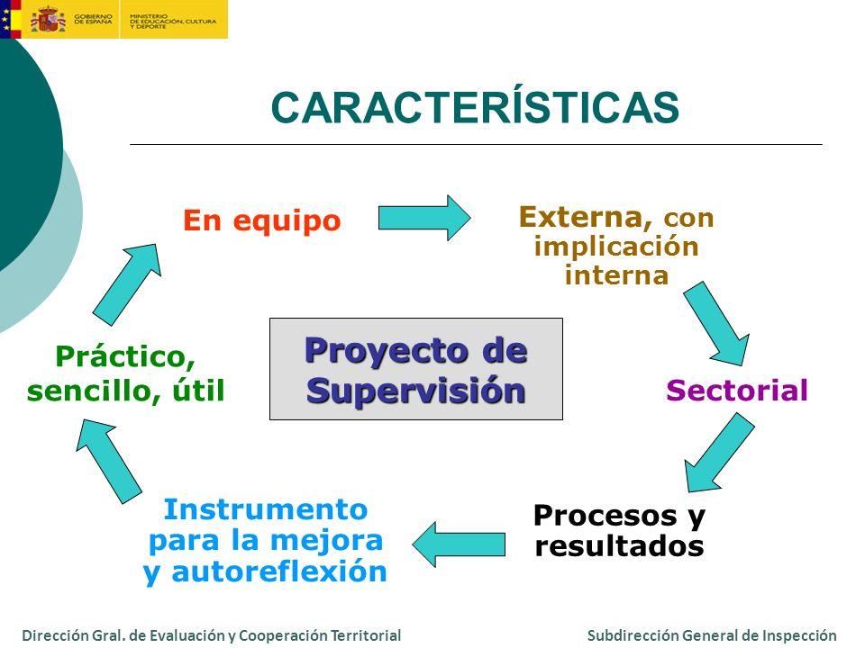 CARACTERÍSTICAS Proyecto de Supervisión En equipo