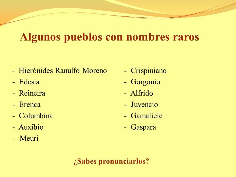 Algunos pueblos con nombres raros