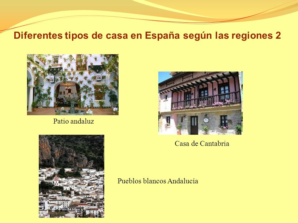 Diferentes tipos de casa en España según las regiones 2