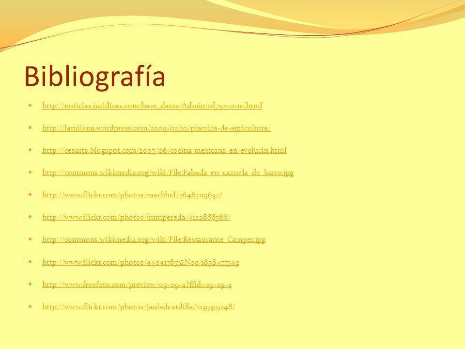 Bibliografía http://noticias.juridicas.com/base_datos/Admin/rd752-2010.html. http://lamilana.wordpress.com/2009/03/10/practica-de-agricultura/