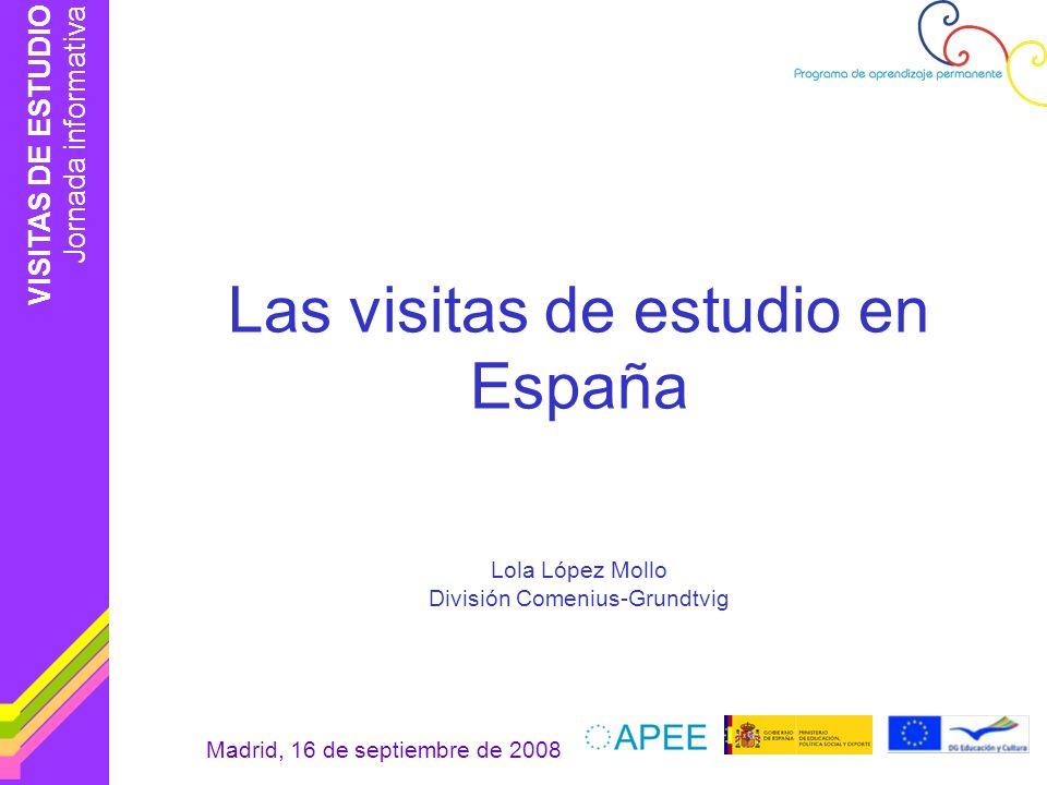 Las visitas de estudio en España
