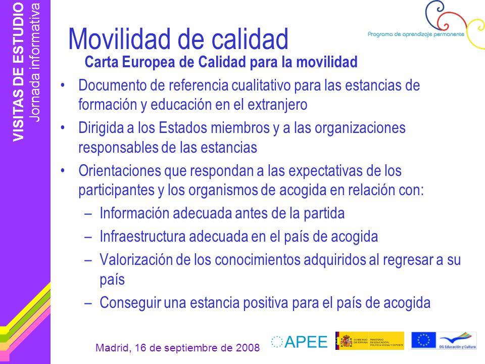 Movilidad de calidad Carta Europea de Calidad para la movilidad