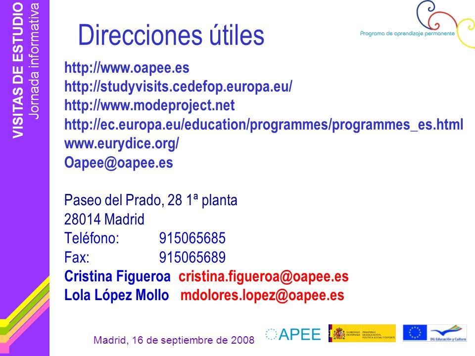 Direcciones útiles http://www.oapee.es