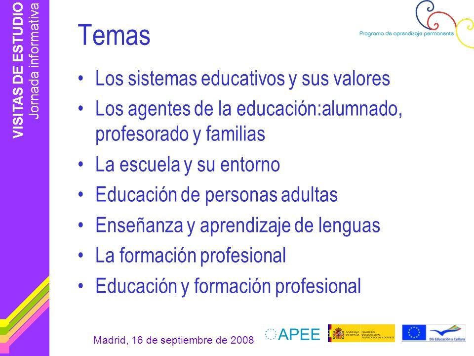 Temas Los sistemas educativos y sus valores