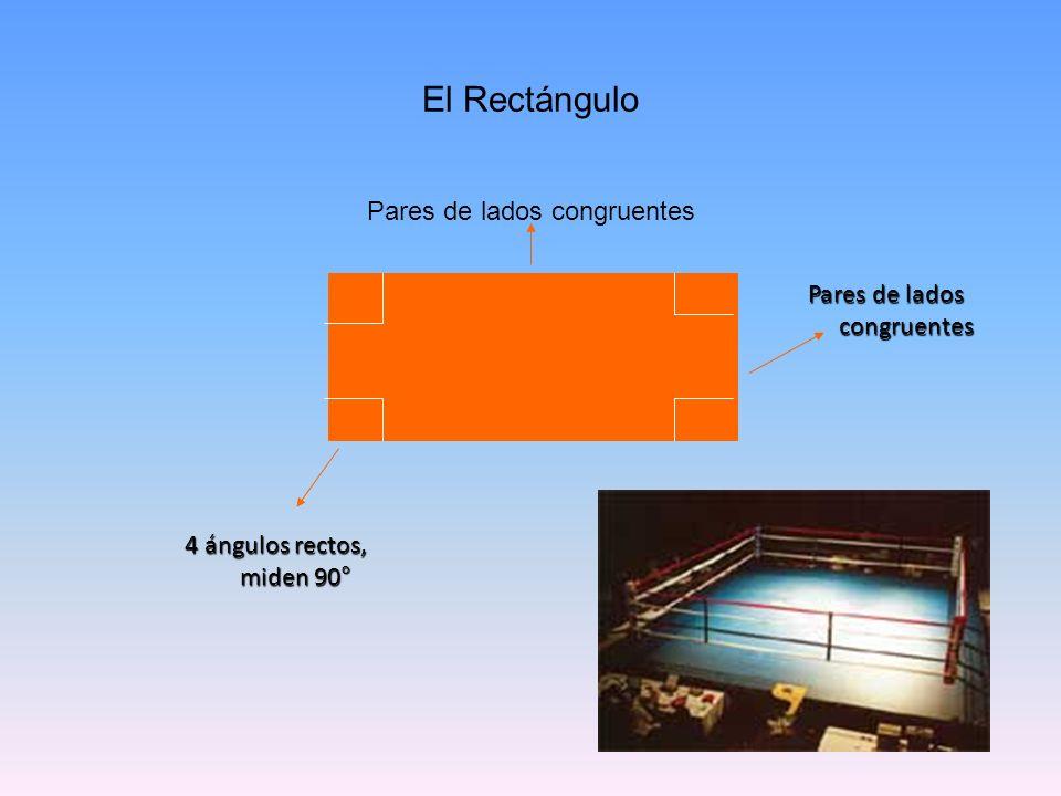 El Rectángulo Pares de lados congruentes Pares de lados congruentes