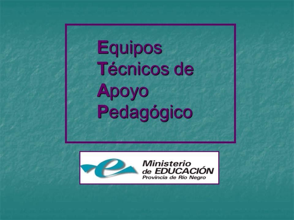 Equipos Técnicos de Apoyo Pedagógico