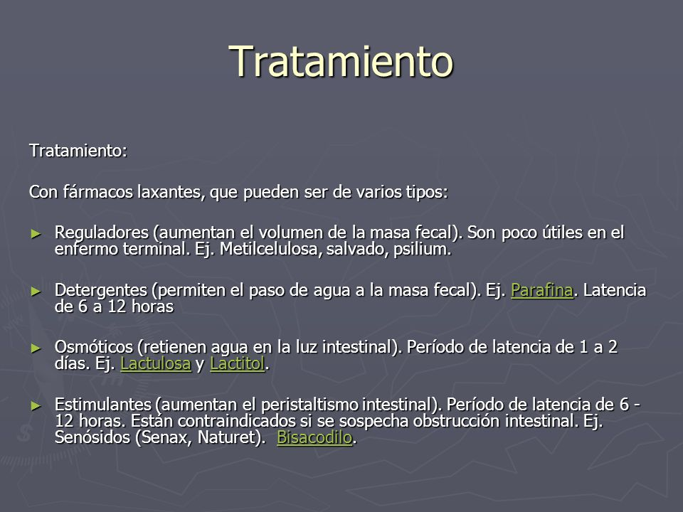 Tratamiento Tratamiento: