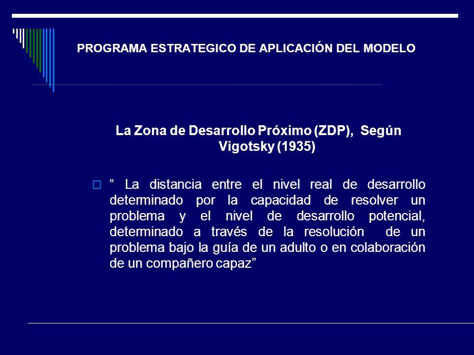 PROGRAMA ESTRATEGICO DE APLICACIÓN DEL MODELO