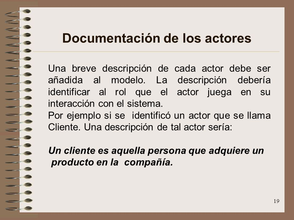 Documentación de los actores