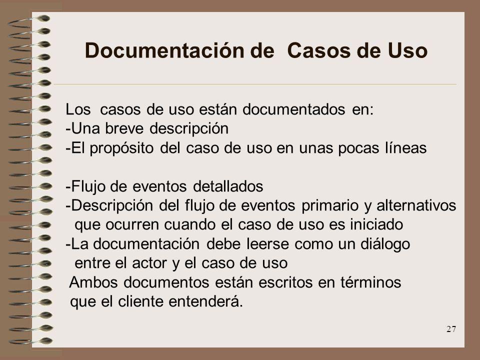 Documentación de Casos de Uso