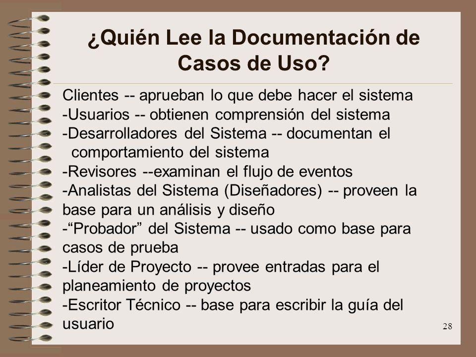 ¿Quién Lee la Documentación de Casos de Uso