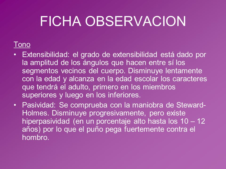 FICHA OBSERVACION Tono