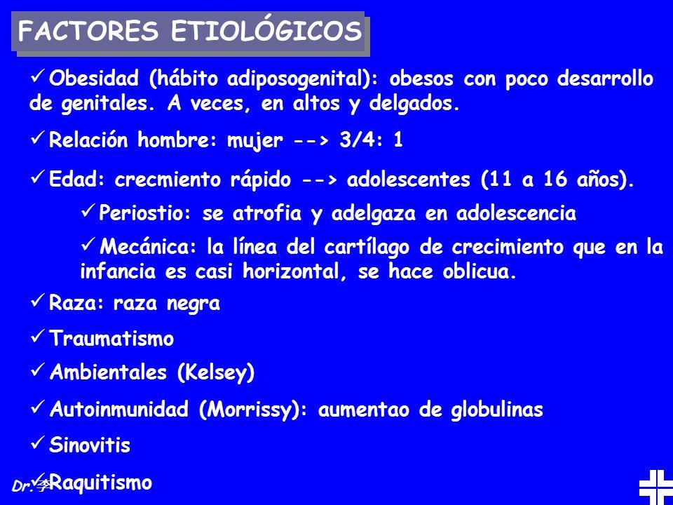 FACTORES ETIOLÓGICOS Obesidad (hábito adiposogenital): obesos con poco desarrollo de genitales. A veces, en altos y delgados.