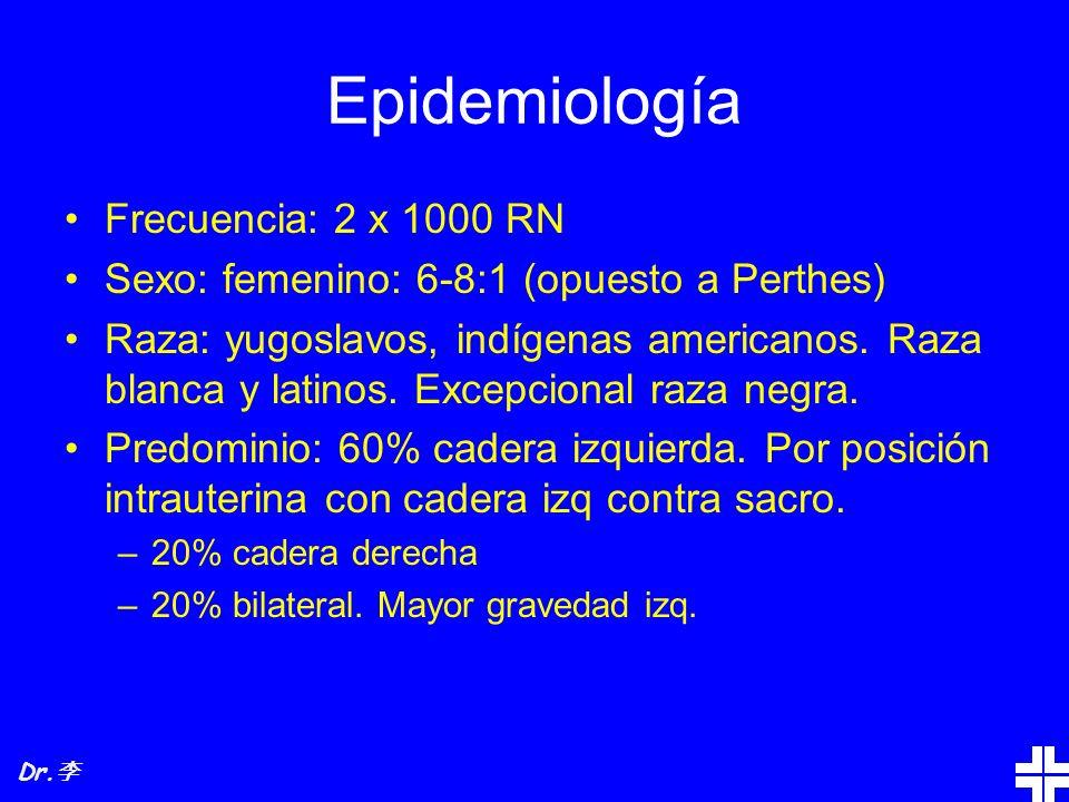 Epidemiología Frecuencia: 2 x 1000 RN