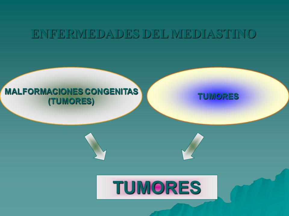 ENFERMEDADES DEL MEDIASTINO MALFORMACIONES CONGENITAS