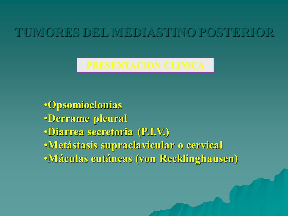 TUMORES DEL MEDIASTINO POSTERIOR