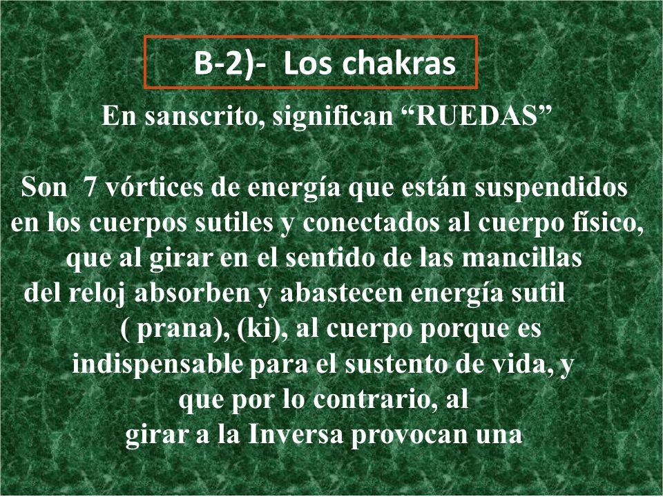 B-2)- Los chakras En sanscrito, significan RUEDAS