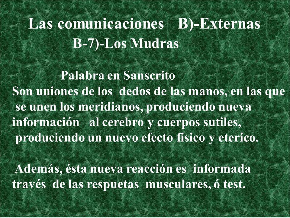 Las comunicaciones B)-Externas B-7)-Los Mudras