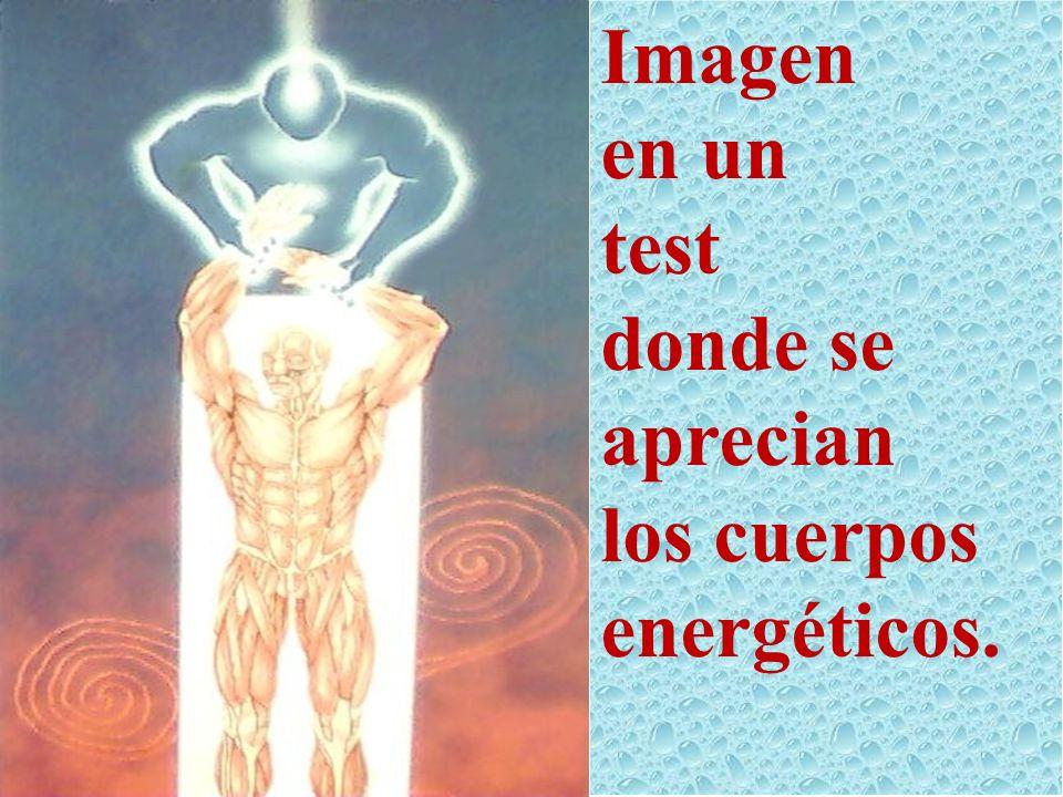 Imagen en un test donde se aprecian los cuerpos energéticos.