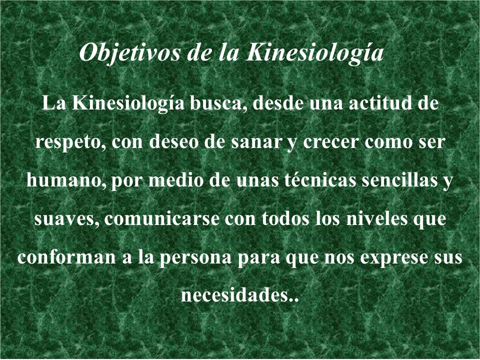 Objetivos de la Kinesiología