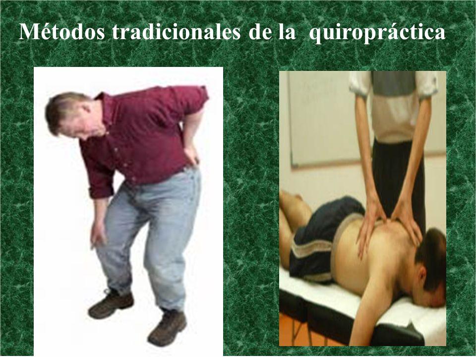 Métodos tradicionales de la quiropráctica