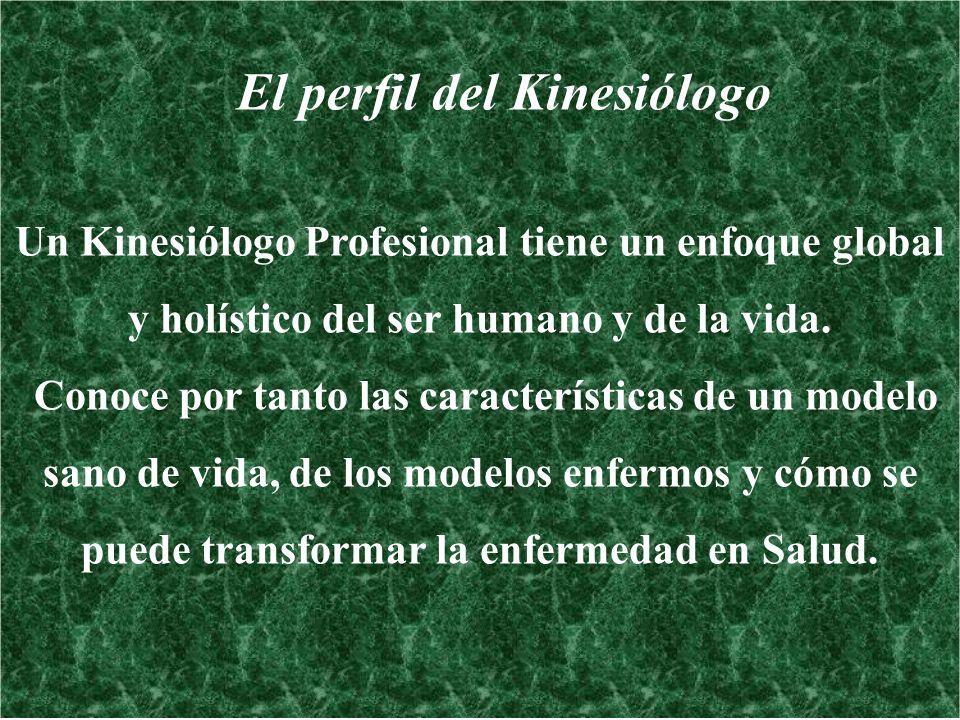 El perfil del Kinesiólogo