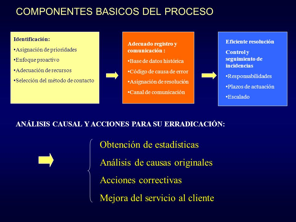 COMPONENTES BASICOS DEL PROCESO