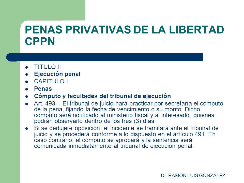 PENAS PRIVATIVAS DE LA LIBERTAD CPPN