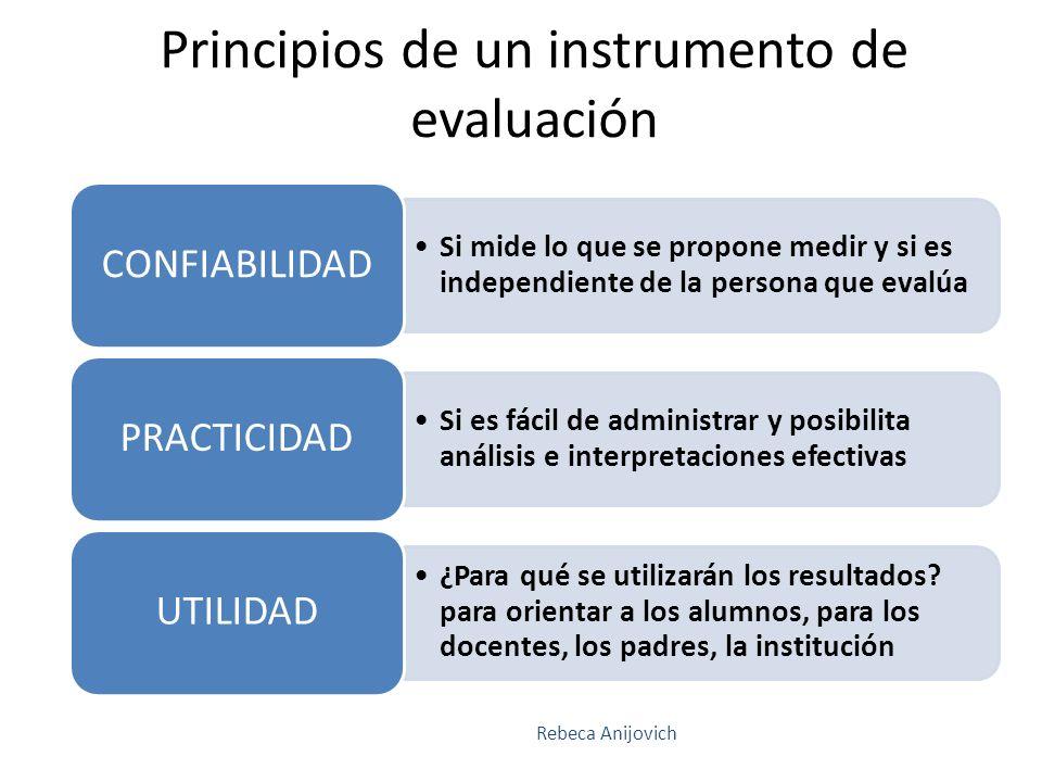 Principios de un instrumento de evaluación
