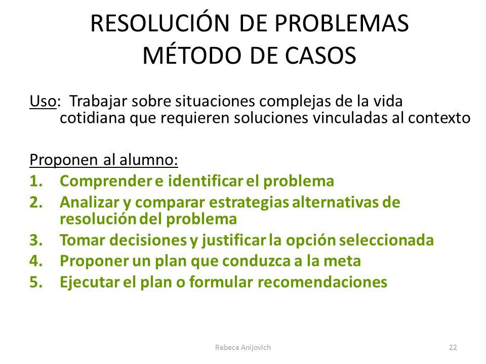 RESOLUCIÓN DE PROBLEMAS MÉTODO DE CASOS