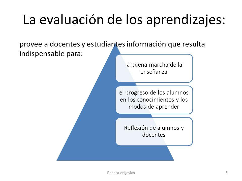 La evaluación de los aprendizajes: