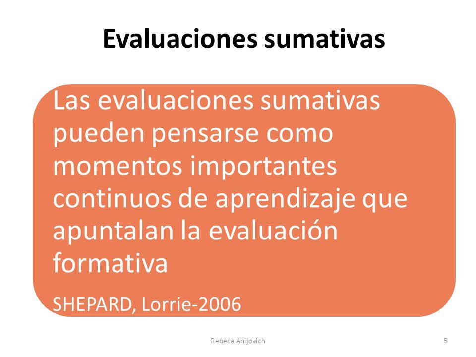 Evaluaciones sumativas