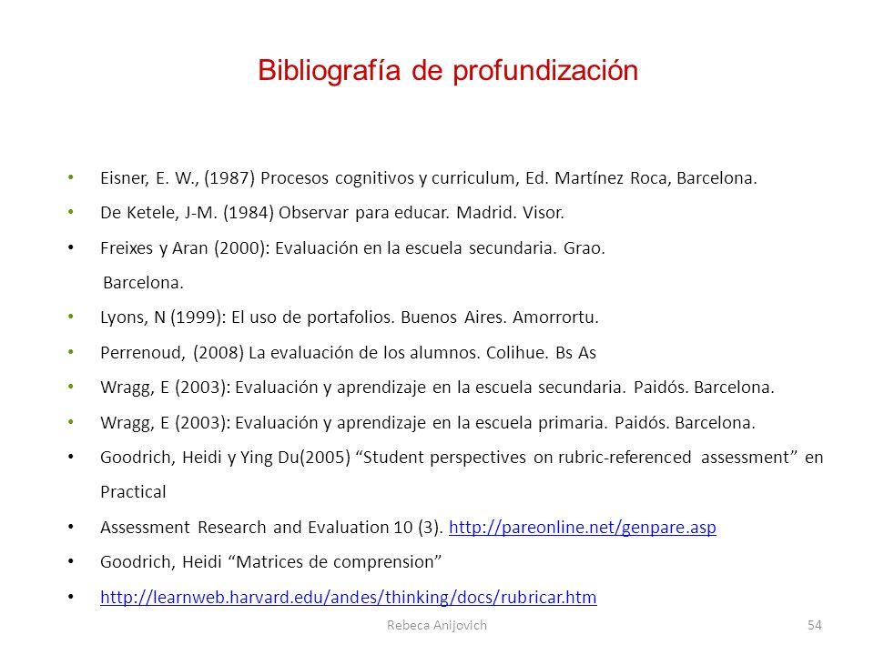 Bibliografía de profundización