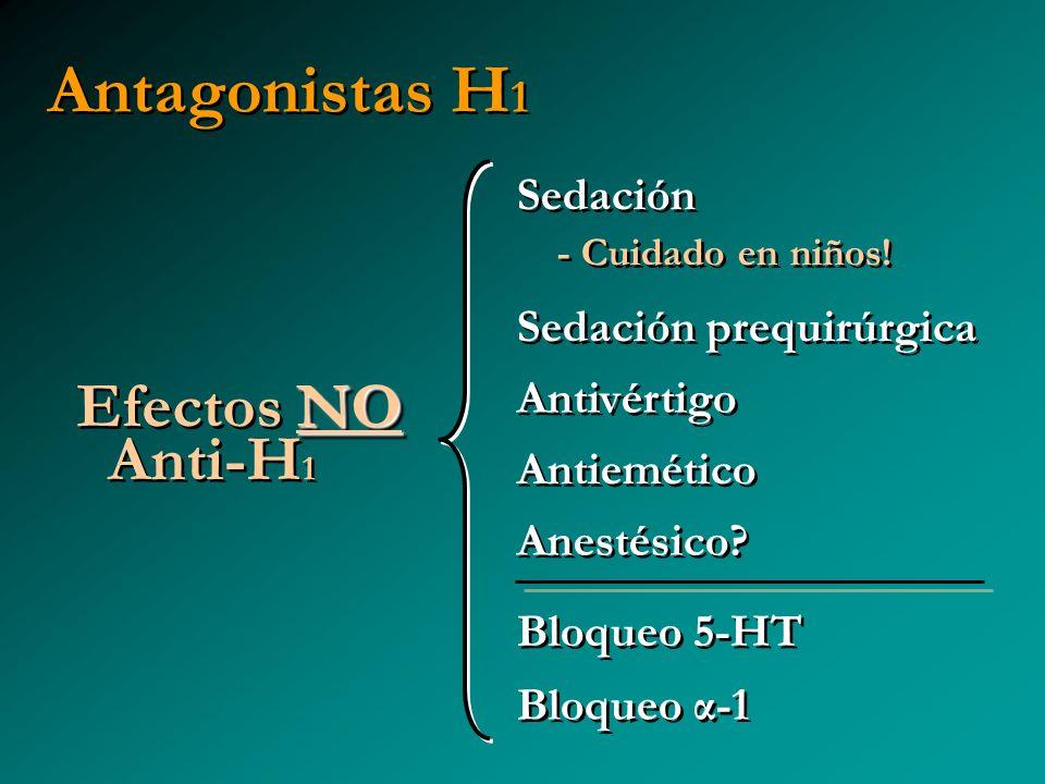 Antagonistas H1 Efectos NO Anti-H1 Sedación - Cuidado en niños!