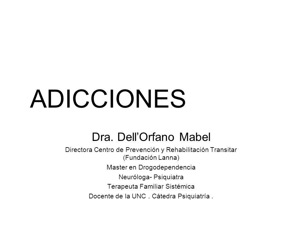 ADICCIONES Dra. Dell'Orfano Mabel