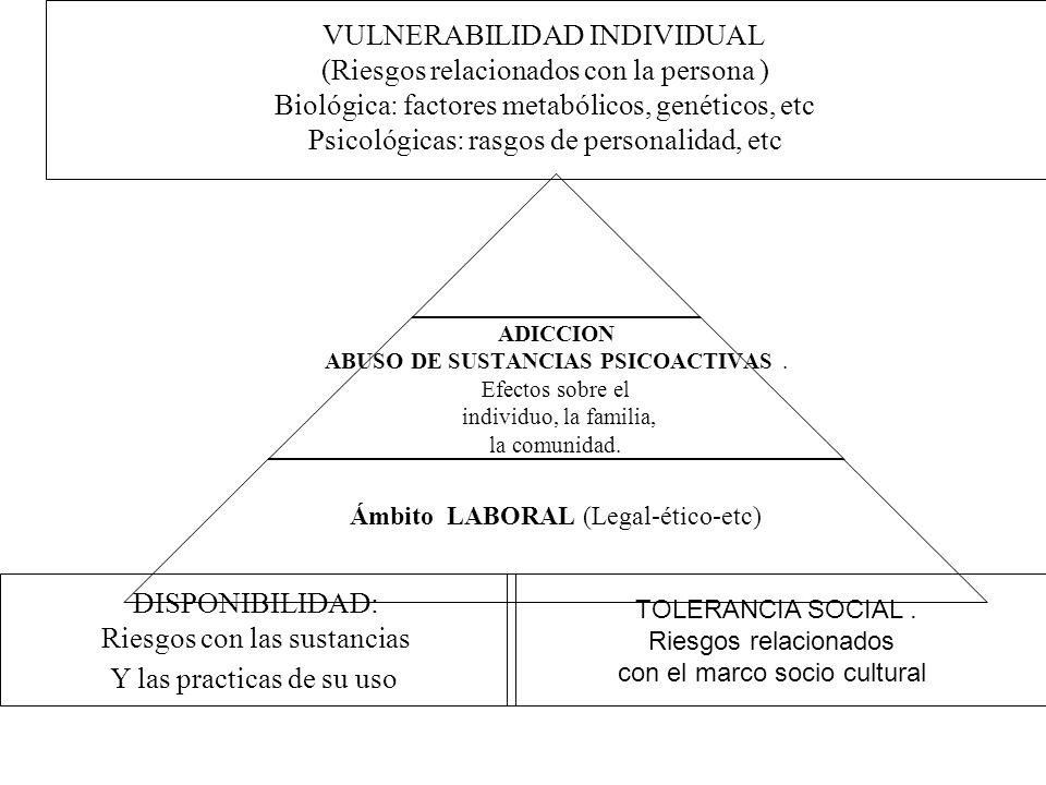 VULNERABILIDAD INDIVIDUAL (Riesgos relacionados con la persona )