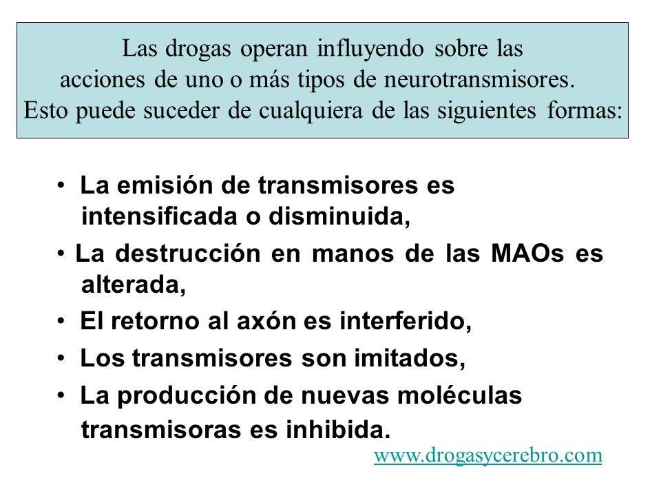• La emisión de transmisores es intensificada o disminuida,
