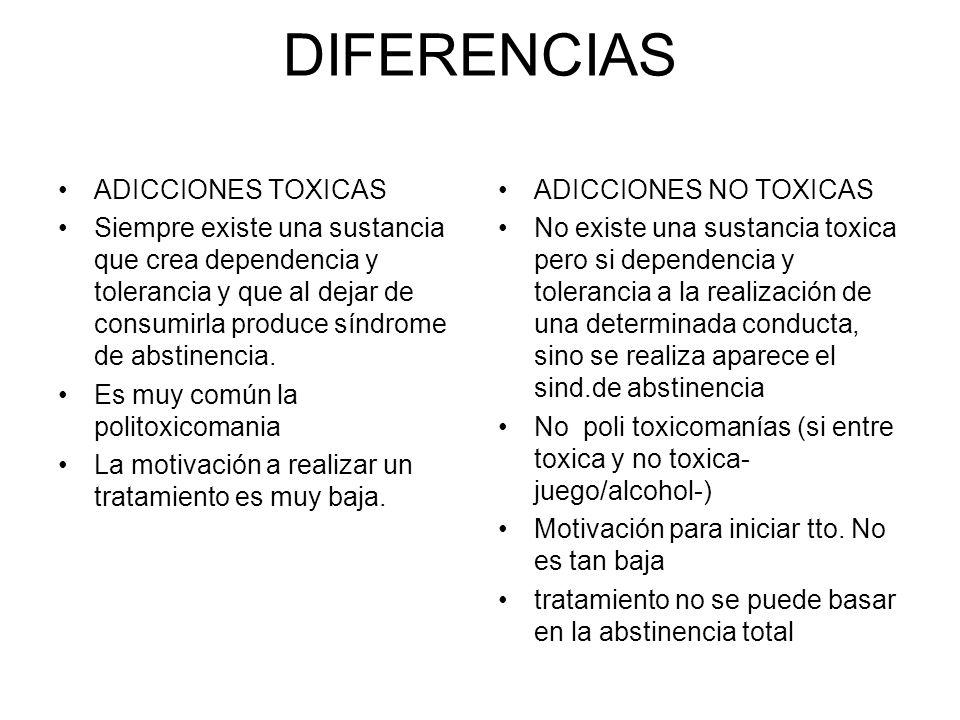 DIFERENCIAS ADICCIONES TOXICAS