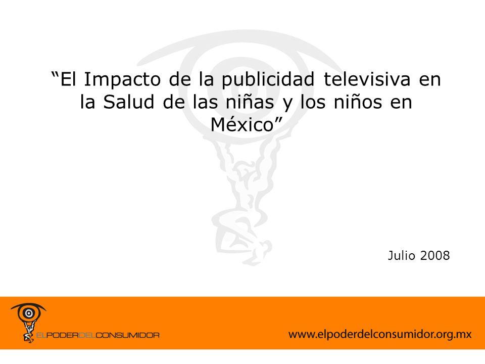 El Impacto de la publicidad televisiva en la Salud de las niñas y los niños en México