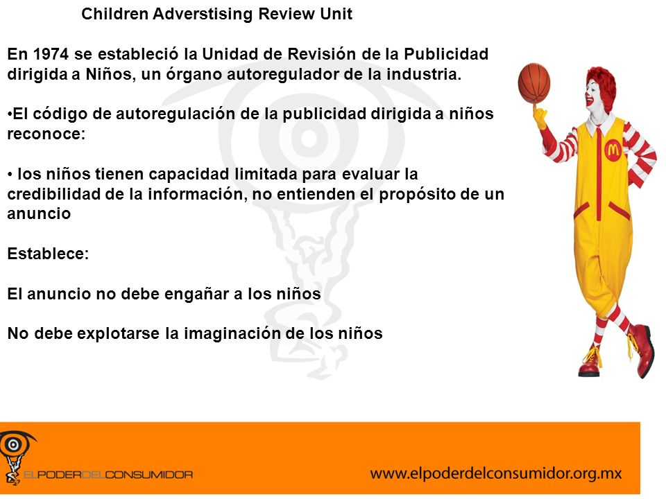 Children Adverstising Review Unit