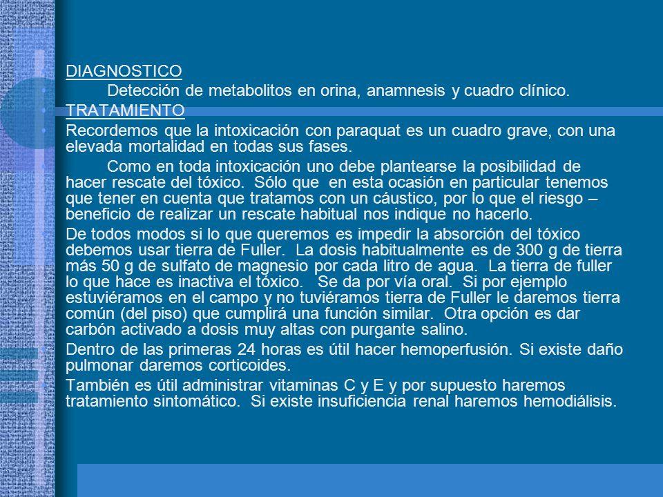 DIAGNOSTICO Detección de metabolitos en orina, anamnesis y cuadro clínico. TRATAMIENTO.