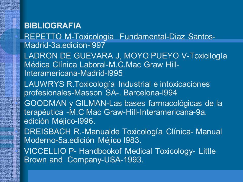 BIBLIOGRAFIA REPETTO M-Toxicologia Fundamental-Diaz Santos-Madrid-3a.edicion-l997.