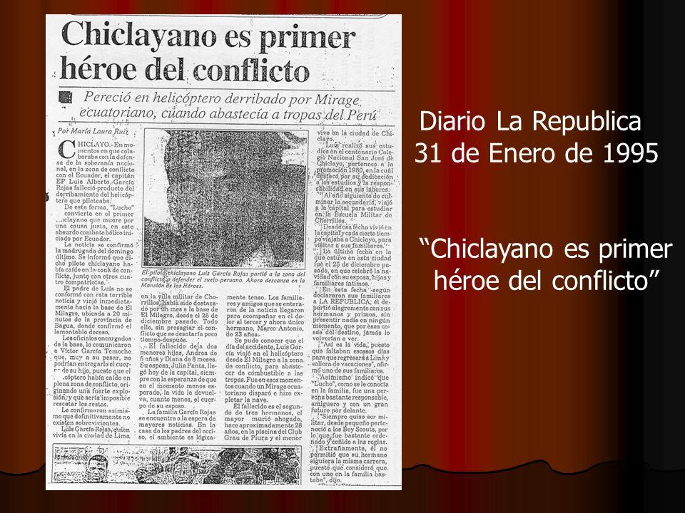 Chiclayano es primer héroe del conflicto